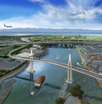Canada Line Proposed Bridge - Artistic Rendering