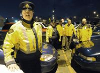 Auxiliary Constable in yellow jacket